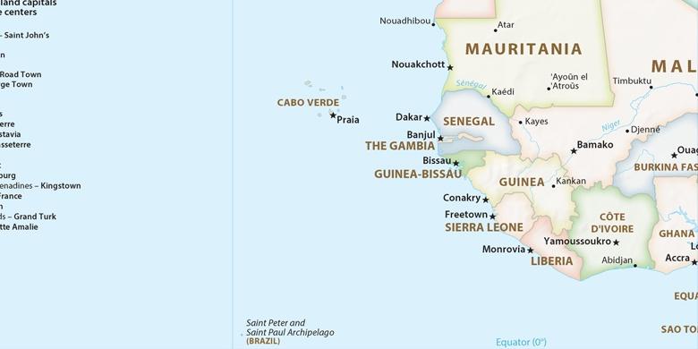 kapp kart Vila de Sal Rei på kartet kapp kart